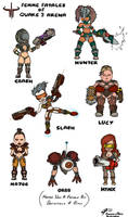 Femme Fatales of Quake 3 by ShroomArts