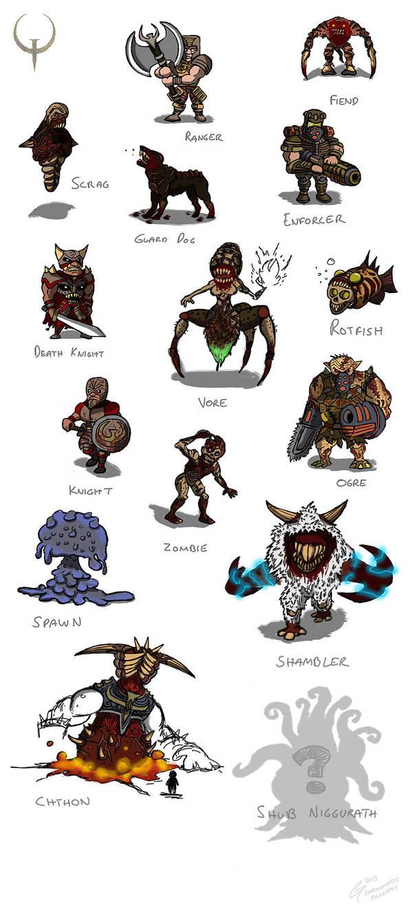 Quake 1 Enemies by ShroomArts