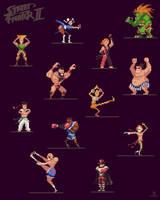 Street Fighter 2 Pixelart by ShroomArts