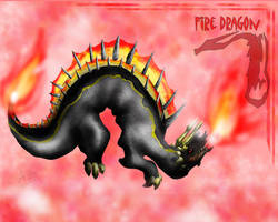 Fire Dragon by Sathiest-Emperor