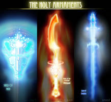Weapon Designs: The Holy Armaments by Sathiest-Emperor