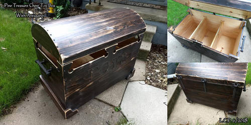 Pine Treasure Chest Top Toy Box by Sathiest-Emperor