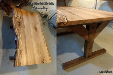 Live Edge Spalted White Oak Coffee Table by Sathiest-Emperor
