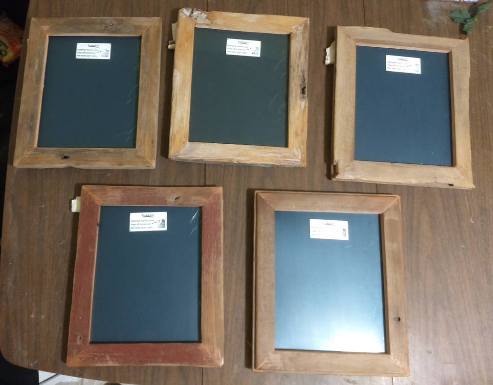 Set of 5 Barnwood Photo Frames by Sathiest-Emperor