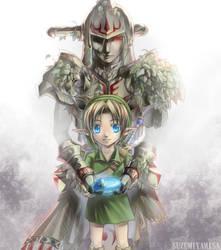 Link and Hero's Shade by suzumiyamisa