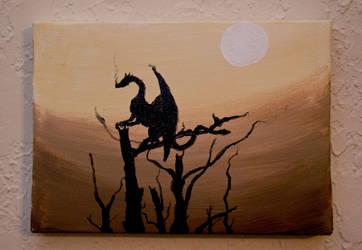 dragon in the desert by evilhedgehog2011
