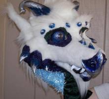 tundra dragon fursuit head by ScruffyAlleyCat