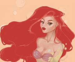 Ariel| the little mermaid by ArbiesArt