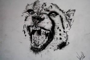 The Cheetah by Vinodsaysdraw