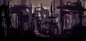 Apocalypse Desert Landmark Concept Art by SylviaRitter