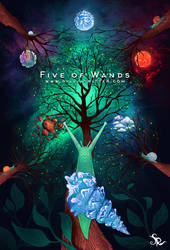 Five of Wands by SylviaRitter