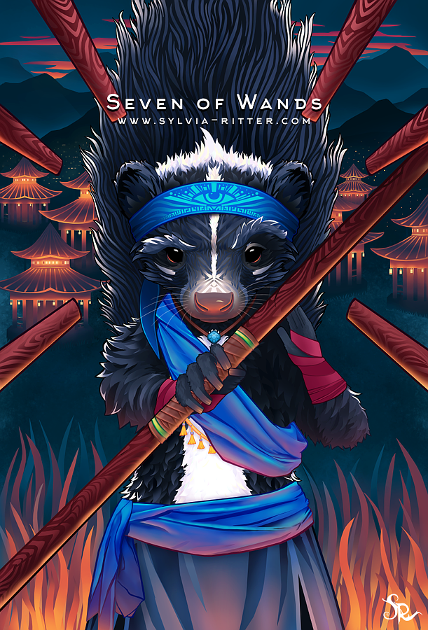 Seven of Wands by SylviaRitter