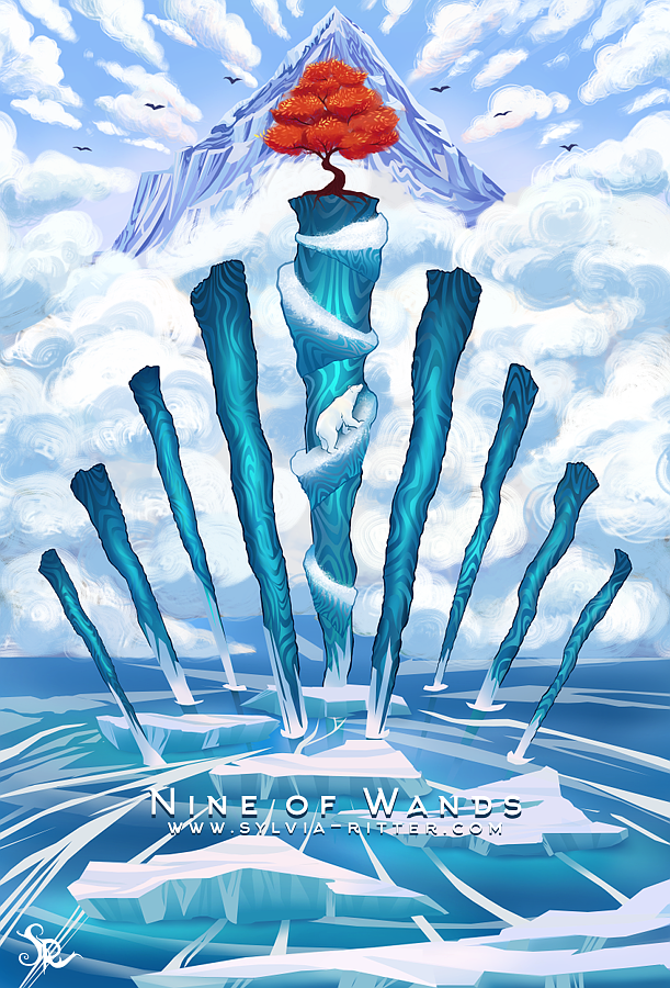 Nine of Wands by SylviaRitter