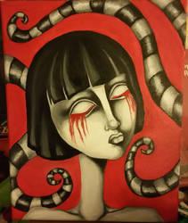 Creepy Fran Bow Inspired Portrait by desertpenguin