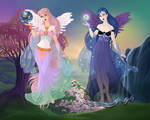 Goddess Dress up Game: Celestia and Luna by Nyxity