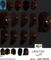 Crystel cheveux WIP by evin279