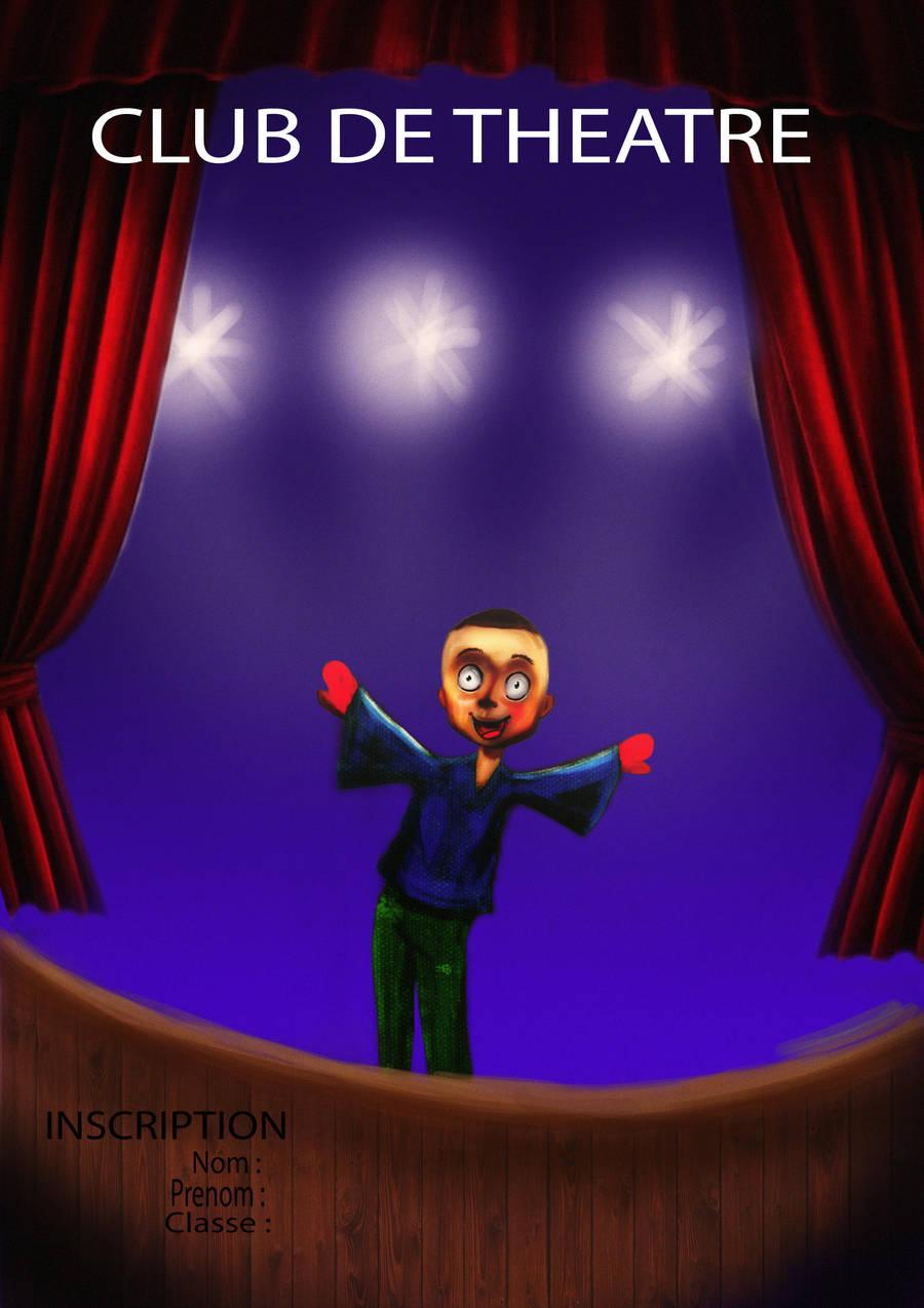 affiche club de theatre by evin279