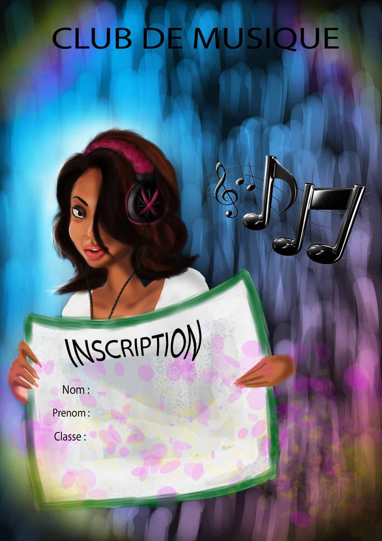 affiche club de musique by evin279