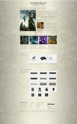 Kerem Beyit - Portfolio Weblayout by medienvirus