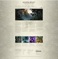 Kerem Beyit - Portfolio Weblayout 2 by medienvirus