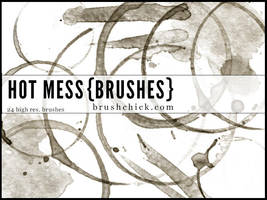 Hot Mess Coffee Stain Brushes by brushchick