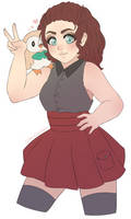 Commission - Trainer Freya and her Rowlett by spacenerdy