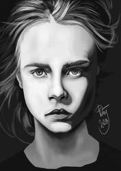 FACE STUDY #29 - Cara Delevingne by pictsy