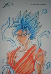 Goku Super Saiyan Beyond God by Renow54