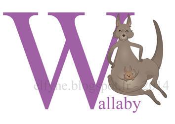 Wallaby by ElfyneInWonderland