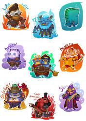Dota Stickers by TagoVanTor