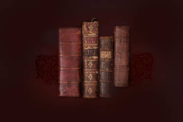 Vintage books and papers by texturepalace