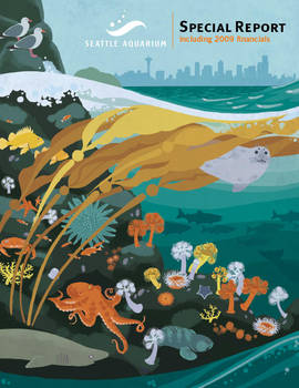 Aquarium annual report cover by chibighibli