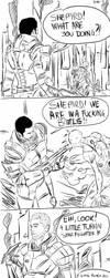 Mass Effect comic - Kaidan hate this job by queenseptienna