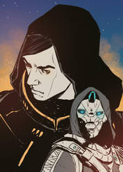 Uldren Sov and Cayde 6 by queenseptienna