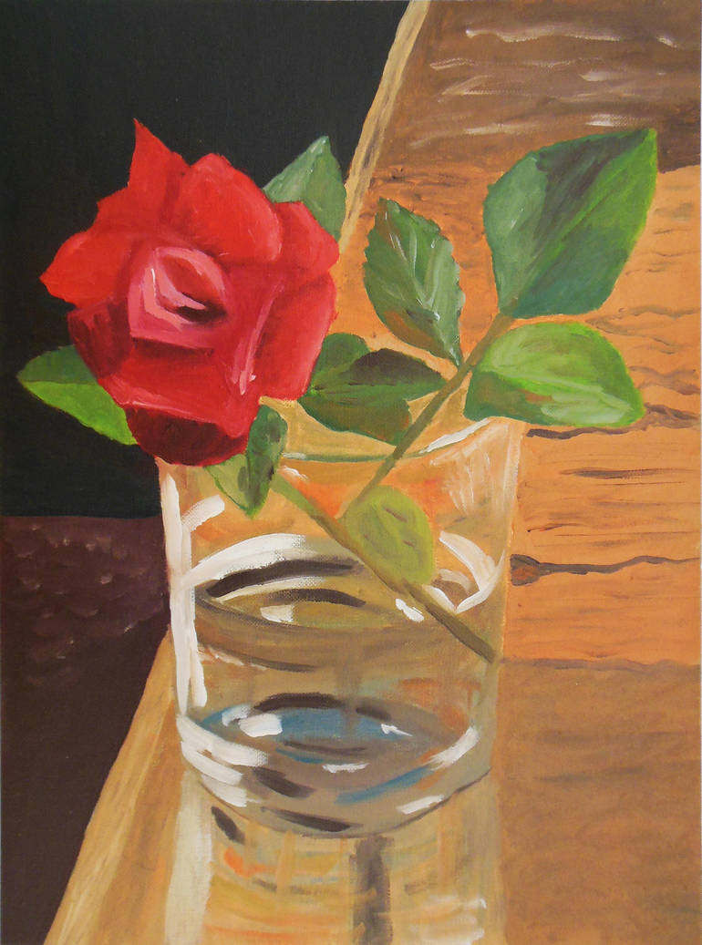 Rose In A Glass by Citizzen