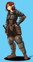 Elf Swordswoman by Shabazik