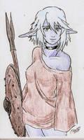 Dark Elf slinger by Shabazik
