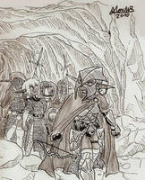 Drow Hunting Party by Shabazik