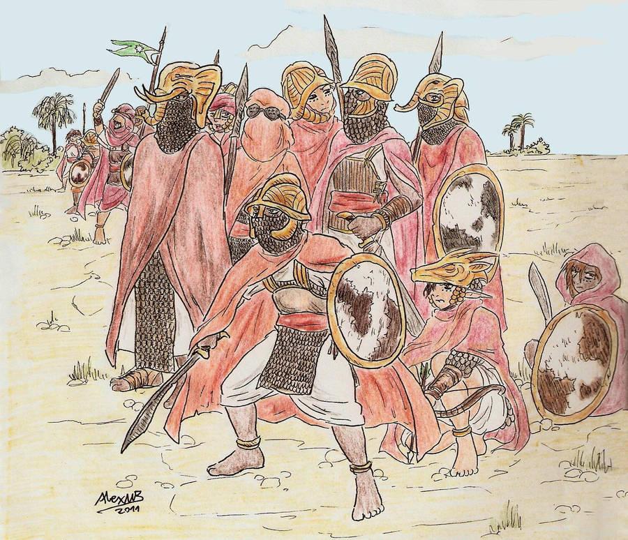 Sand Elf warriors by Shabazik