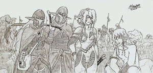 Elven Rangers by Shabazik