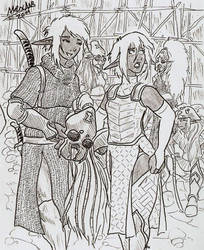 Black Widow mercenaries by Shabazik
