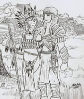 Wild elf nobles by Shabazik