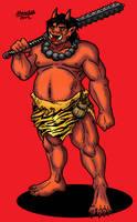 Ogre Oni Warrior by Shabazik