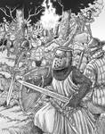 Battle of the Bajaurus Forest by Shabazik