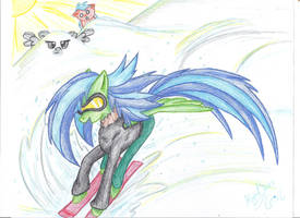 Commission: FreeStyle Skiing! by KyuremGirl