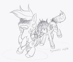 Got your Tailfeathers! by KyuremGirl