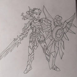 Leona Sketch by Veeroniquee