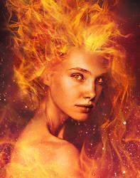 Fire Woman (Dota 2 Lina FanArt) by Veeroniquee