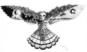 Celestial Owl by RiverSpirit456