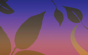 basic sunset leaves BG by Forlork